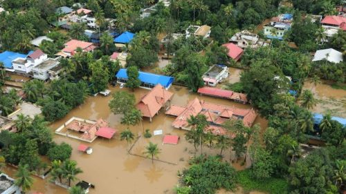 Flooding in the north part of Kochi, in the Indian state of Kerala