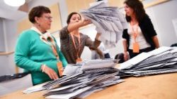 The counting of ballots after Swedish election