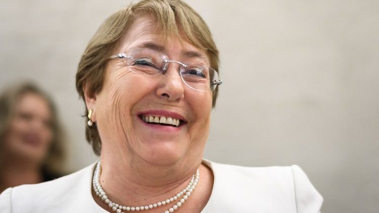 Michelle Bachelet, the new United Nations High Commissioner for Human Rights, at the 39th session in Geneva on Sept. 10, 2018.