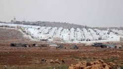 "Refugee camp ""Hope"" on the Syrian Turkish border"