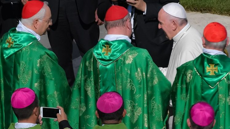 "Pope Francis at the opening Mass for the Synod of Bishops on ""Young People, the Faith and Vocational Discernment"""