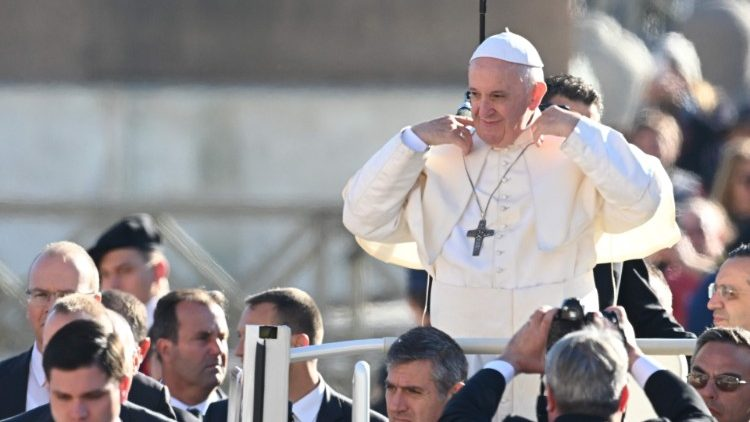 Pope Francia at Wednesday's General Audience