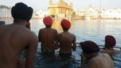 The Golden Temple in Amritsar, India, Sikhism's holiest pilgrimage site.