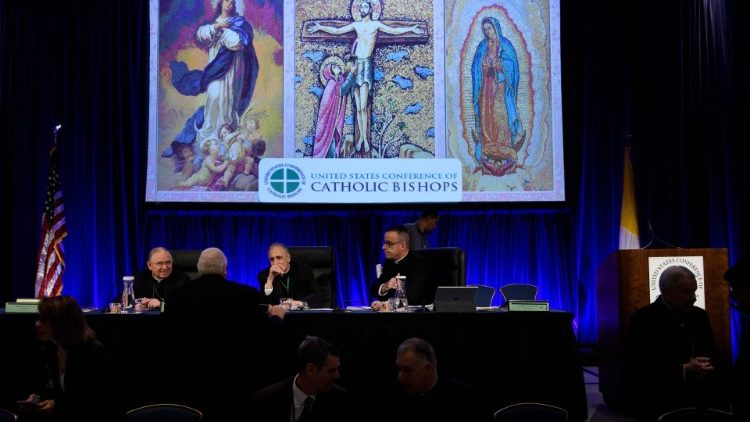 Getting ready to begin Day One of the Fall General Assembly of the US Conference of Catholic Bishops