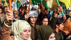 Demonstration in Qamishli,  Syria, on the International Day for the Elimination of Violence againt Women, Nov. 25.