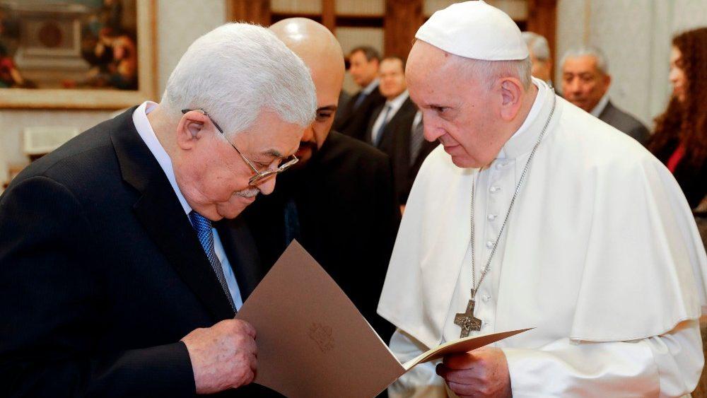 """Palästinenserpräsident beim Papst: """"Ein Schmerzensschrei für Frieden"""""""