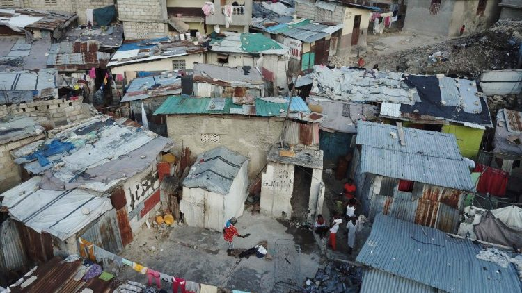A view of neighbourhoods in Port au Prince, Haiti where many survive on less than 2 dollars a day