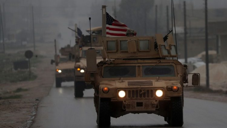 US military vehicles in Syria's northern city of Manbij