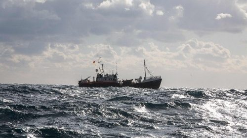 "Germany-flagged rescue vessel ""Professor Albrecht Penck"" sails off the Maltese coast"