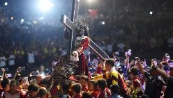 The procession of the Black Nazarene in Manila, the Philippines, January 9, 2019.