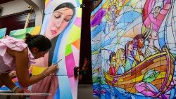 Panamian mural getting ready for World Youth Day