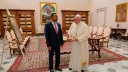 In January 2019 Pope Francis met Ethiopian Prime Minister, Dr Abiy Ahmed