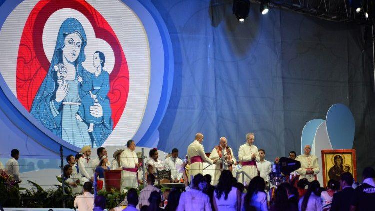 Pope Francis at Via Crucis