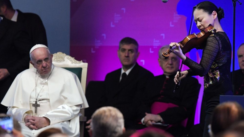 Image result for Pope to musicians: Create context in the heart of God's voice