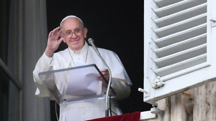 Francisco, durante el Angelus de hoy