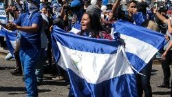 Protesters march in Nicaragua's capital