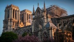 Cathedral of Notre Dame following a devastating fire