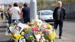 Floral tributes to journalist Lyra McKee