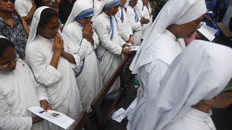 Des missionnaires de la charité au Sri Lanka.