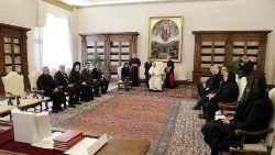 Pope meeting the official delegation from Bulgaria in the Vatican, May 24, 2019.