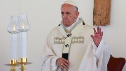 Pope Francis celebrates Mass in Camerino, Italy