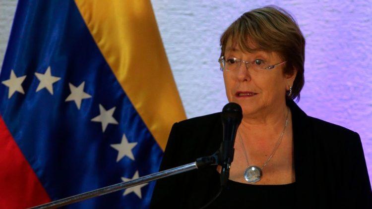 La Haut-Commissaire aux droits de l'homme de l'ONU, Michelle Bachelet, le 21 juin à Caracas. (AFP or licensors)
