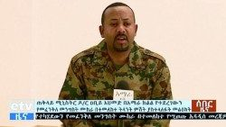 Ethiopian PM Abiy Ahmed appears on ETV broadcast