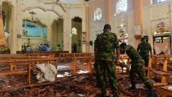 St. Sebastian's Church in Negombo was among 3 churches targeted by suicide bombers on April 21, 2019., in  Sri Lanka.