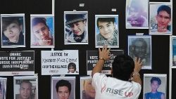"Portraits of some of the victims killed in the Philippine's ""war on drugs""."