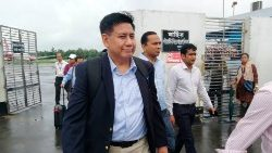 Myanmar delegation arriving at Cox's Bazar airport on July 27, 2019.
