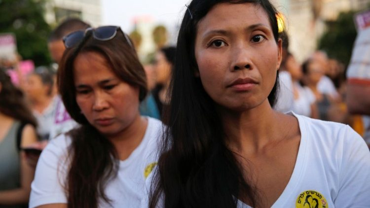ISRAEL-PHILIPPINES-PROTEST-DEPORTATION