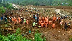 A landslide in the Wayanad district of India's Kerala state.