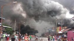 Riots in Manokwari, the capital of Indonesia's West Papua province.