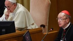 Pope Francis with Cardinal Hummes during the Synod