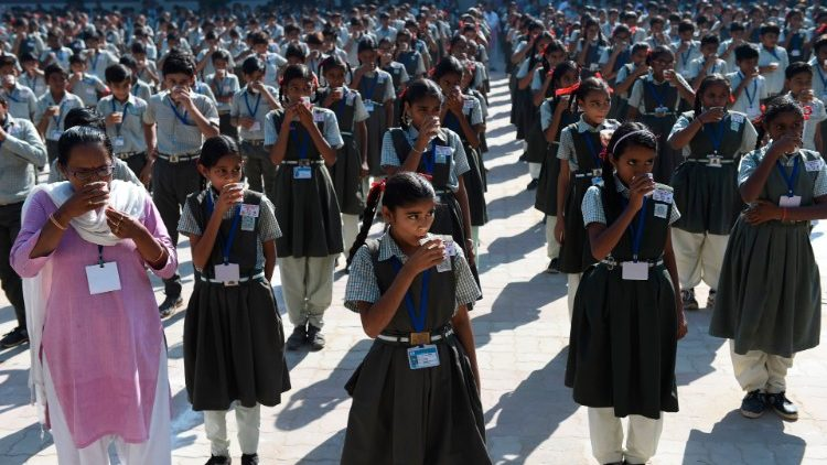 The International Day of the Girl Child being observed in Ahmedabad, India.