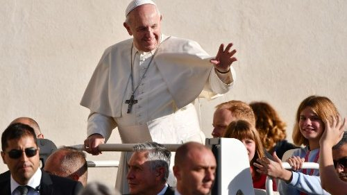 Pope Francis at the General Audience of Oct. 16, 2019
