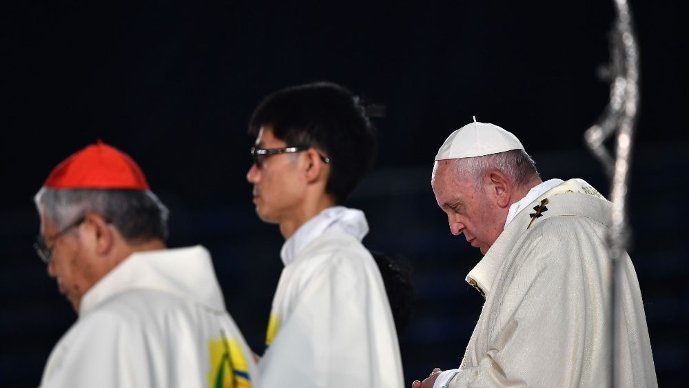 Pope Francis at Mass in Tokyo