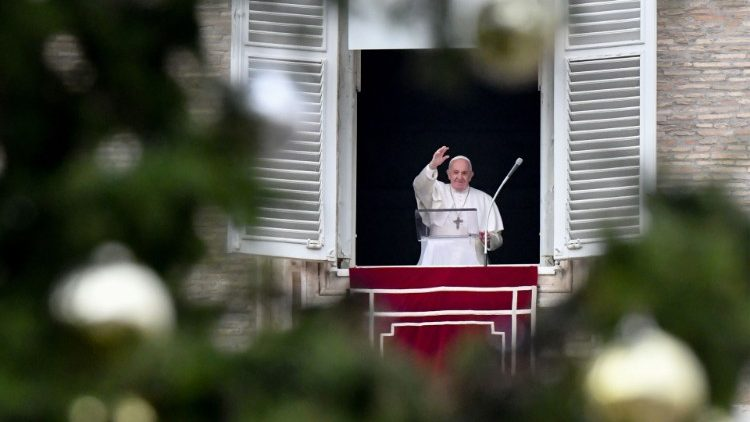 Papa Francisco durante o Angelus deste domingo
