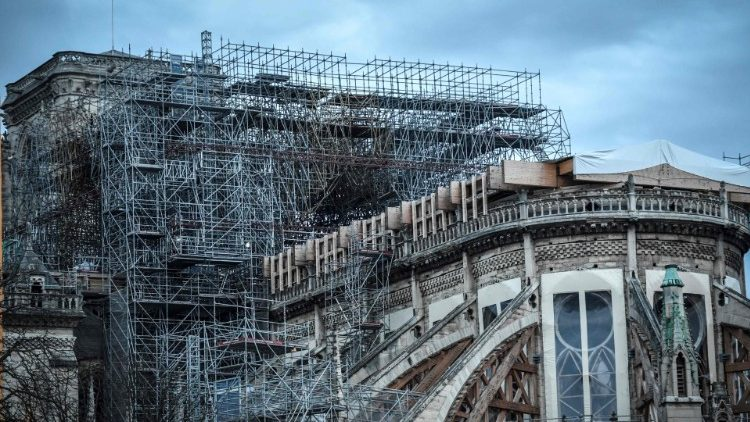 Restoration works are underway at Notre Dame Cathedral