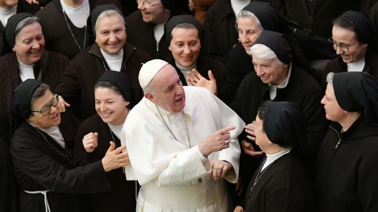 Pope Francis during the General Audience