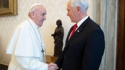 Pope Francis and US Vice President, Mike Pence