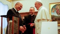 Pope Francis meets Iraqi President Barham Saleh on 25 January 2020