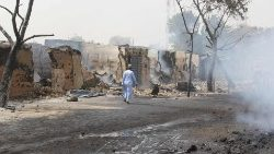 File photo of attacks in Borno state