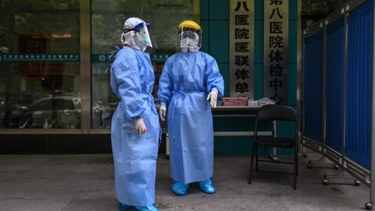 Medical workers in Hubei province