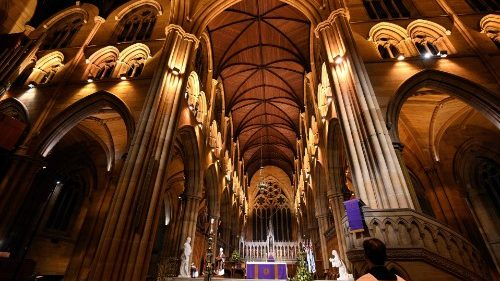 Interior of St. Mary's Cathedral in Sydney, Australia