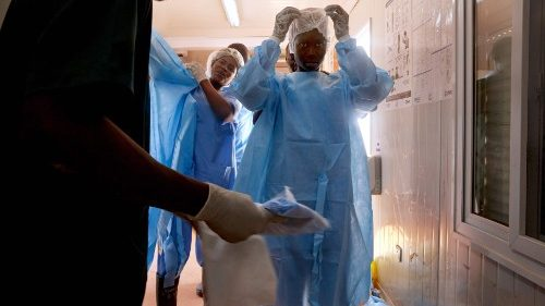 Wearing Personal Protective Equipment (PPE) at a Government hospital in South Sudan