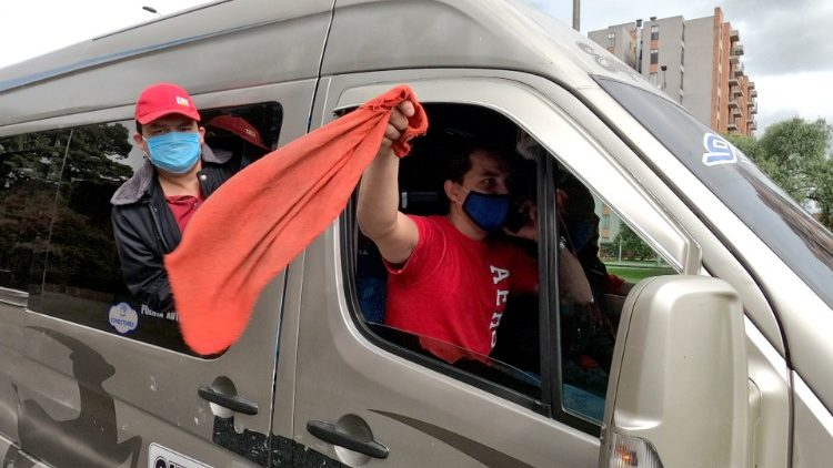 COLOMBIA - HEALTH - VIRUS - PROTEST - DRIVERS