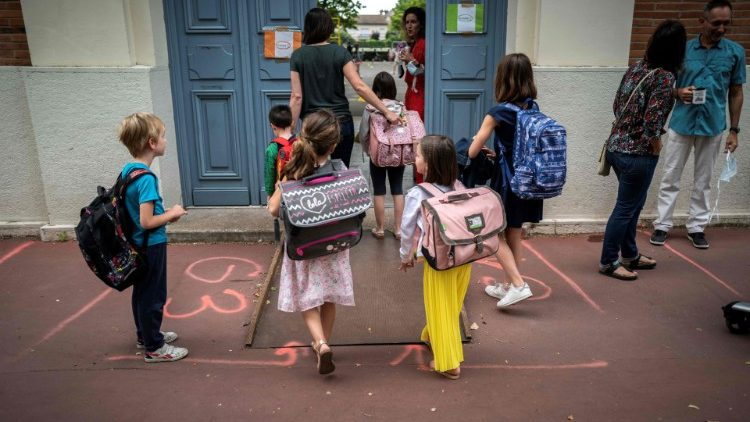 Children at school in France
