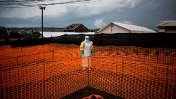 MSF (Doctors without Borders) supported Ebola treatment centre in Bunia, DRC