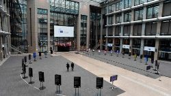 Atrium of the EU Council building in Brussels
